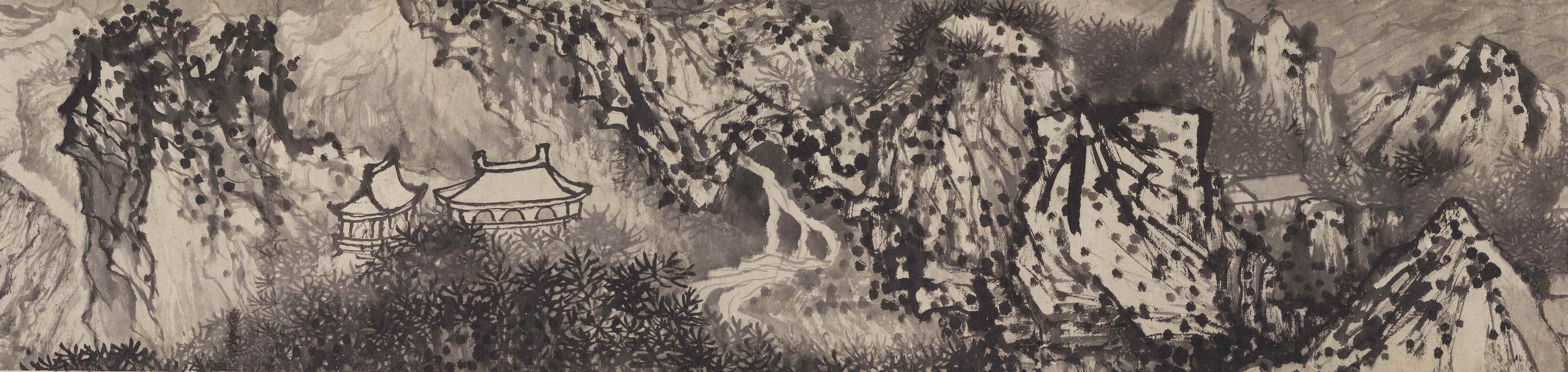 SHITAO. Farewell Landscape for Mr. Wuweng (1689)